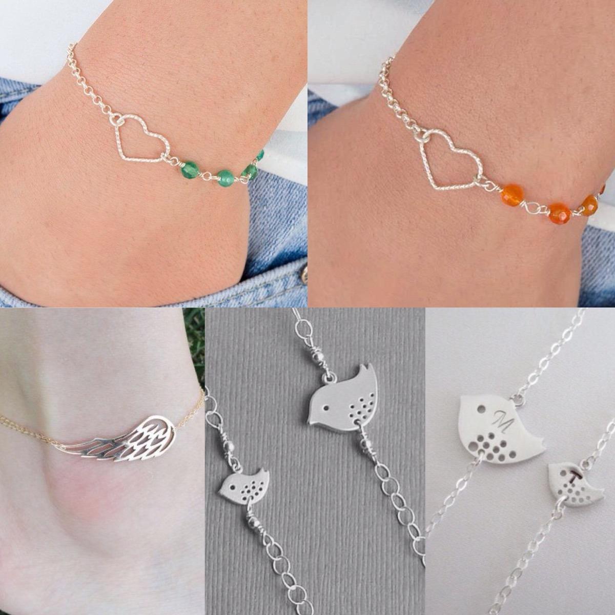 8de2e2689a17 brazalete pulsera joyas personalisadas en plata 950 de mujer. Cargando zoom.
