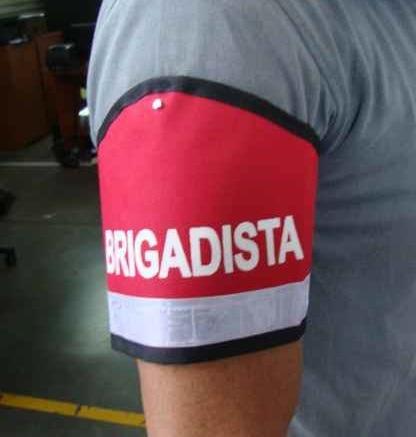 brazalete reflectivo para brigadas de emergencia distintivo