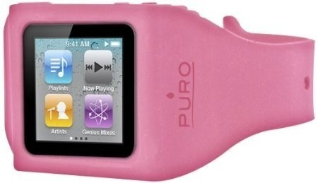 brazalete reloj protector de silicon ipod nano 6 puro nuevo