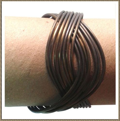 brazalete rígido ajustable color cobre