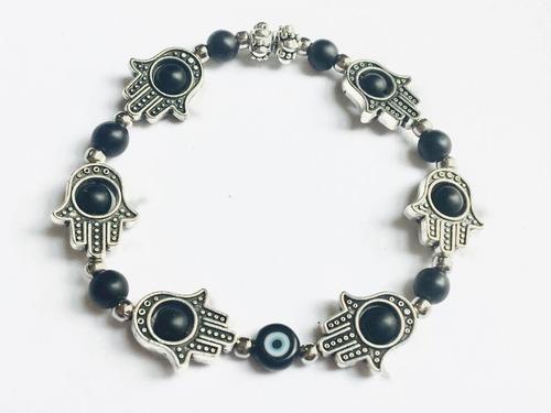 brazalete/pulsera hamsa & ojo turco| protección | abundancia