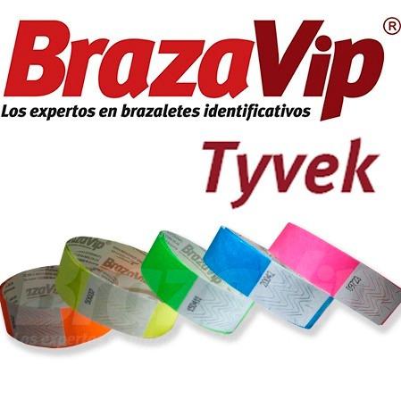 brazaletes de tyvek personalizados