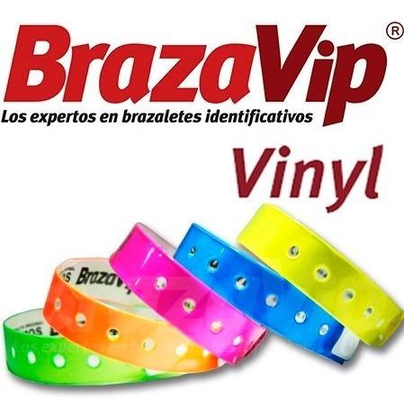 brazaletes de vinil, hoteles, posadas (paq de 20 brazaletes)