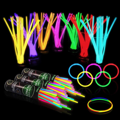 brazaletes glow stick ( paq 100) hora loca