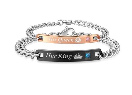 brazaletes king queen