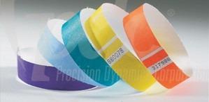 brazaletes & manillas de seguridad tyvek tamaño ¾ wristband