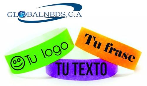 brazaletes personalizados incluye la impresion full color