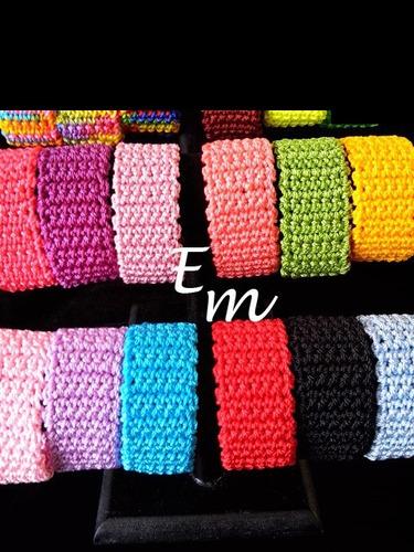 brazaletes tejidos con broche iman paquete 30 piezas