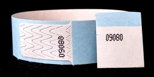 brazaletes tyvek doble numeracion (paq de 50 unidades)