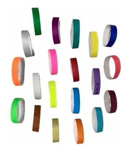 brazaletes tyvek variedad de colores entrega inmediata