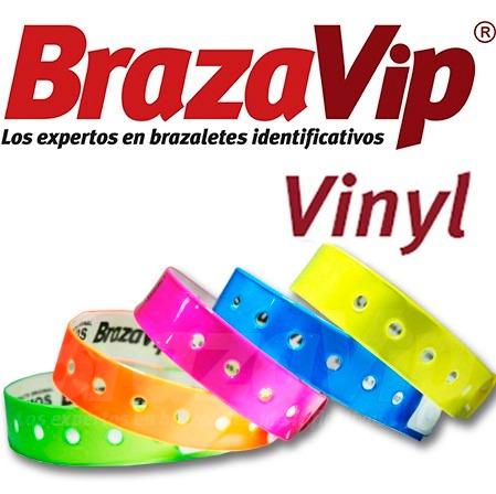 brazaletes vinil personalizados