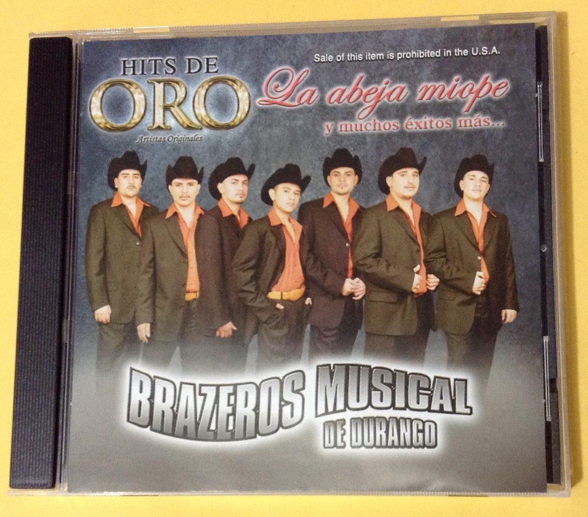 Brazeros Musical De Durango Hits De Oro Cd 8000 En Mercado