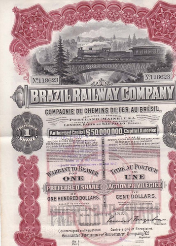 brazil railway comp - 118623 - 1912 - preferred share
