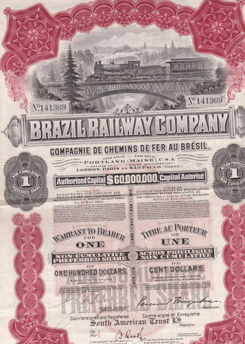brazil railway comp - 141369 - 1912 - preferred share