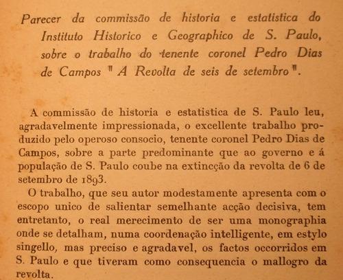 brazilian 1893 revolution a revolta de 6 setembro año 1913