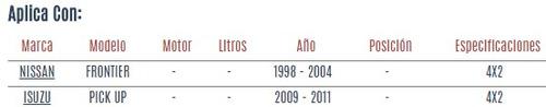 brazo auxiliar isuzu pick up 2009 - 2011 vzl