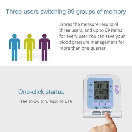 brazo de monitor de presión arterial digital máquina de !
