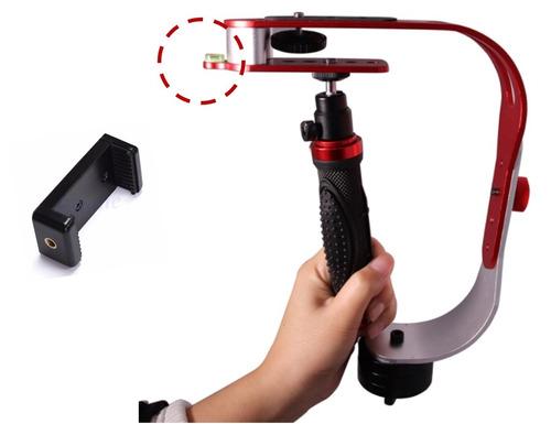brazo estabilizador ajustable para camaras y celular c/nivel