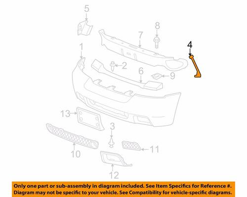 brazo izq. gm trailblazer parachoques delantero 21994090