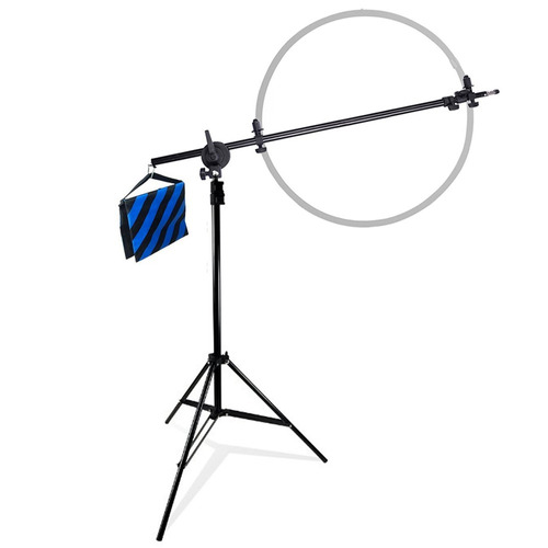 brazo jirafa + tripode para luz flash de estudio fotografia
