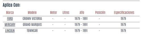 brazo pitman mercury grand marquis 1979 - 1991 vzl