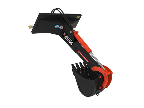 brazo retro excavador | implementos p/ minicargadoras pecari