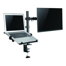 Brazo Soporte Doble Para 1 Portatil Y 1 Monitor