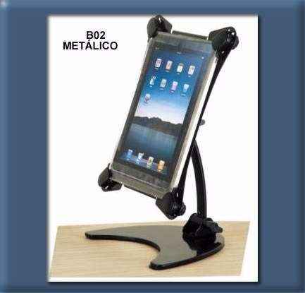 brazo tablet rack de escritorio metalico