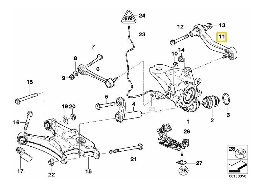 Brazo Trasero Bmw X5 Suspension Derecho Buje Rotula
