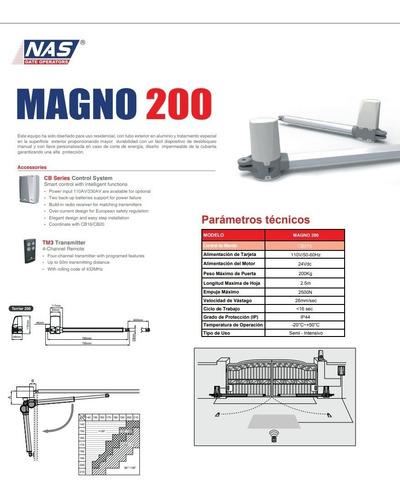 brazos electromecánico marca nas modelo magno 200