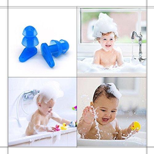 brbd paquete de 6 pares impermeables para niños de tapones