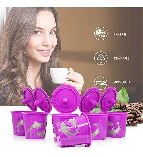 brbhom 6 capsulas reutilizables y reutilizables para filtro
