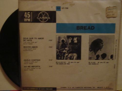 bread lp 45rpm, mucho amor, hazlo contigo, no me importa