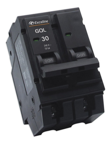 breaker breker interruptor termomagnetico 30a 2p exceline