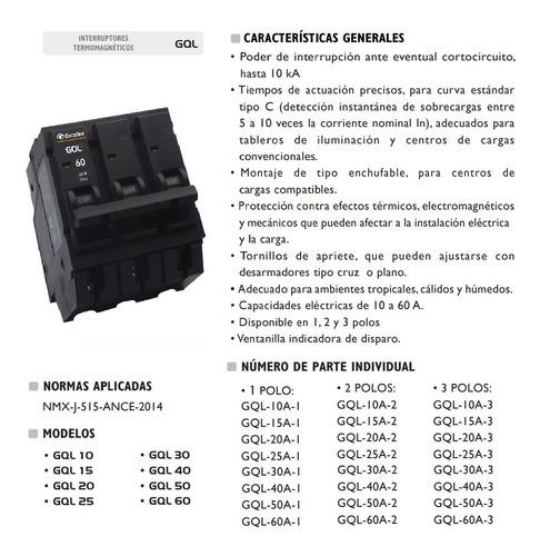 breaker breker interruptor termomagnetico 60a 3p exceline