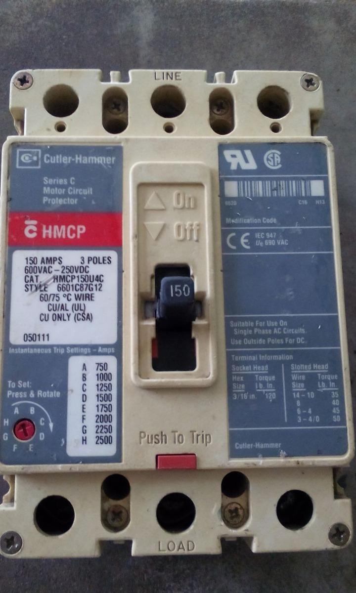 Cutler Hammer 150 Amp Breaker Circuit Used Ed3150 Trifasico En Mercado Libre 720x1200