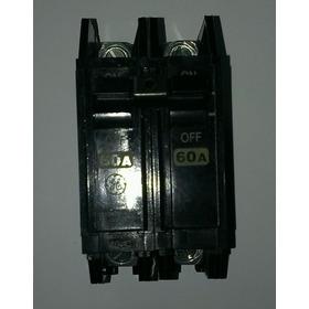 Breaker Doble 60amp 120 Voltios 240 Voltios General Electric