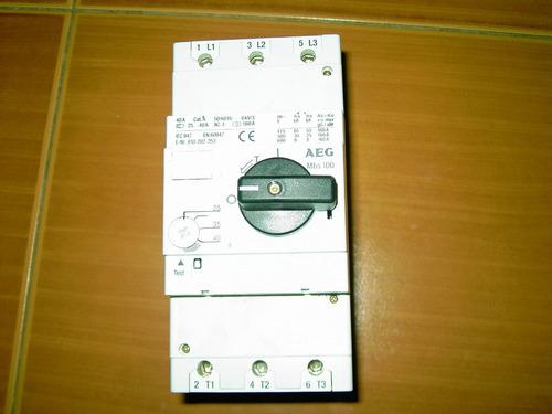 breaker electrico aeg trifasico 40amp