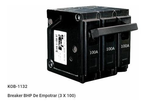 breaker empotrable   3 x 100 amperios promoción