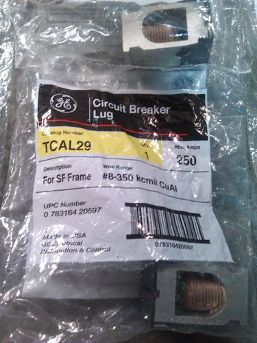 breaker general electric spectra rms 250 a 600 vac