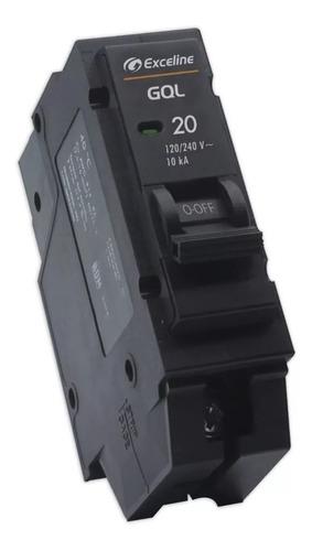 breaker interruptor termico enchufable tablero 20amp 1 polo