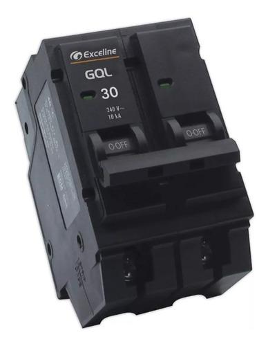 breaker interruptor termico enchufable tablero 30amp 2 polos