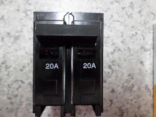 breaker para empotrar 2x20 y 2x30