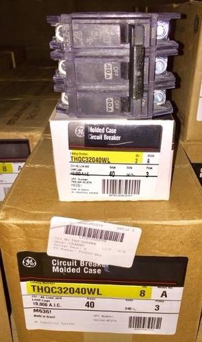 breaker thqc 3x40, 3x50, 3x60 general electric tienda fisica