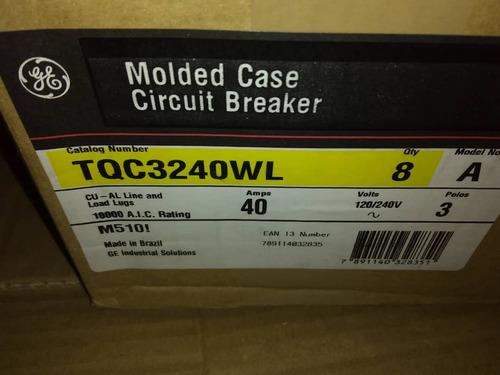 breaker thqc 3x40 amp general electric