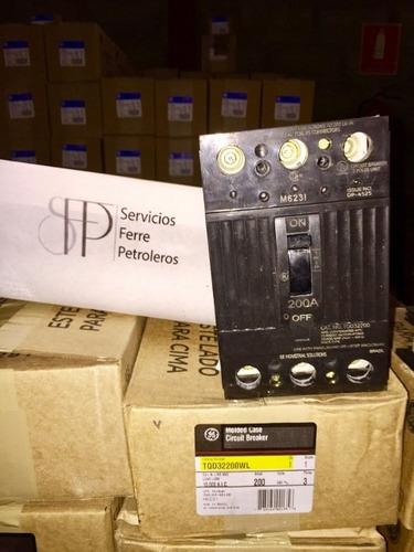 breaker tqd 3x175,3x200 general electric tienda