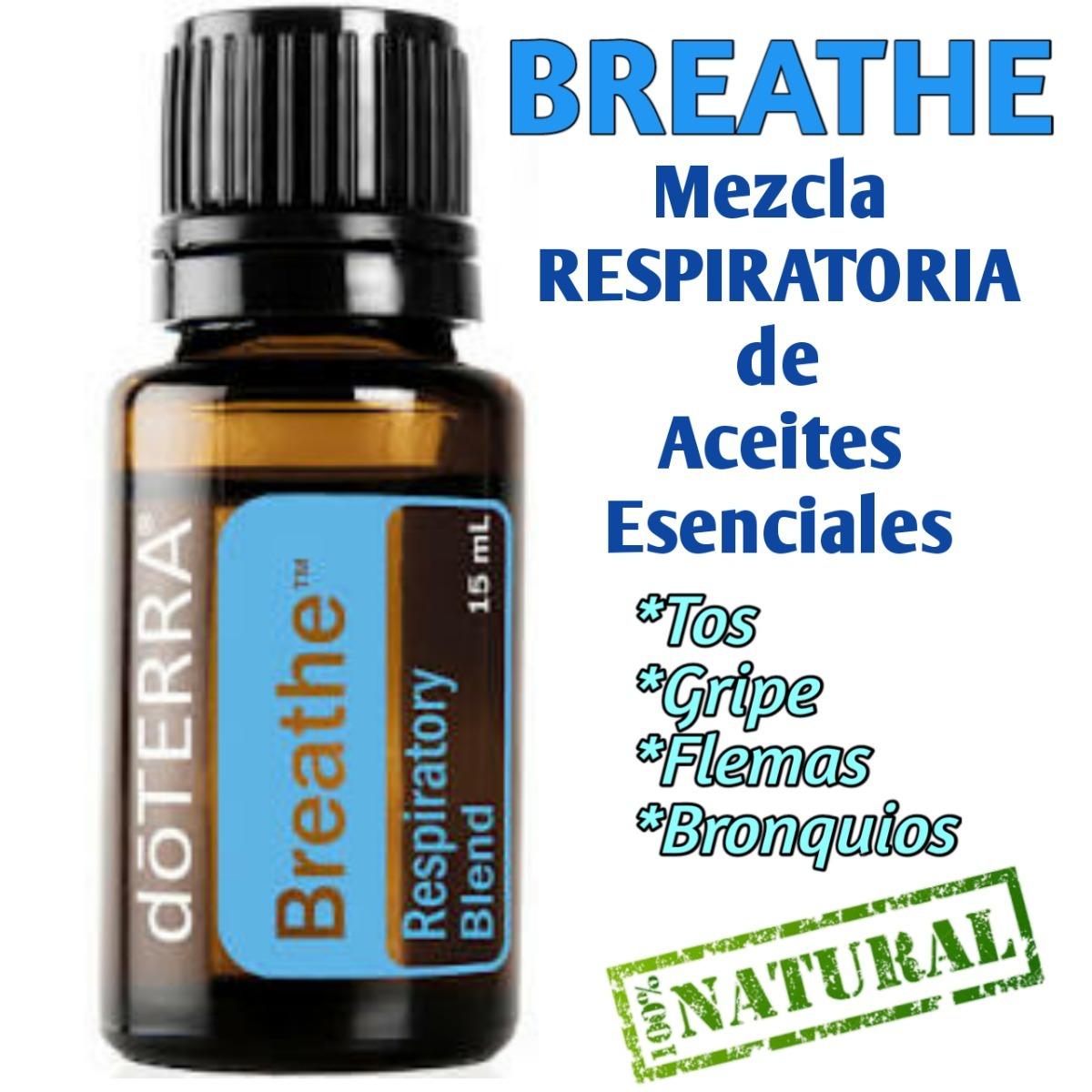 breathe mezcla de aceites 15ml tos influenza asma