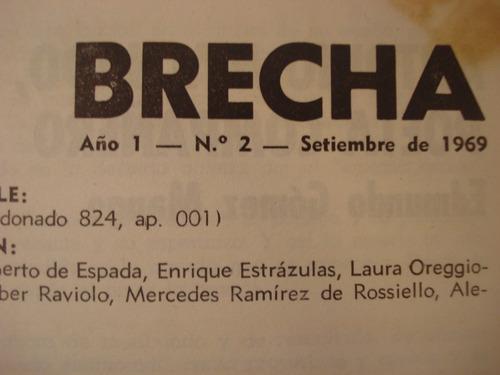 brecha, revista numero 2 de 1969