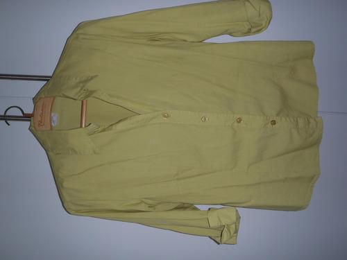 brechó camisa camisete meia manga amarelo limão