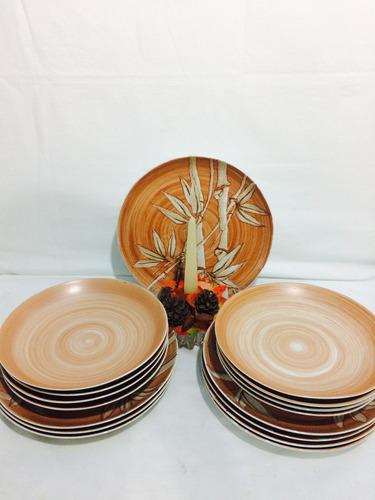 brecho charisma-conjunto de pratos em porcelana